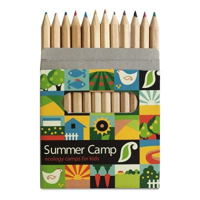 Set de lápices de colores publicitarios para niños