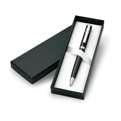 Bolígrafo para regalar metálico en caja de cartón