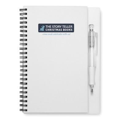 Libreta con bolígrafo para publicidad y empresa