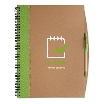 Libreta reciclada A4 con bolígrafo publicidad