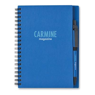 Libreta reciclada y bolígrafo personalizado