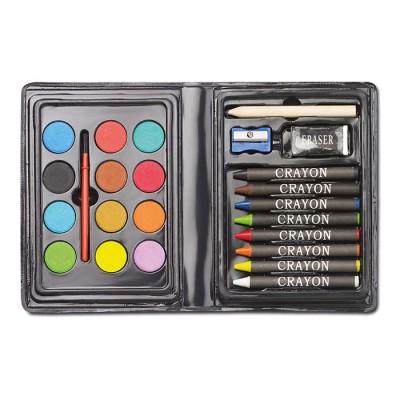 Set para regalar de lápices de colores y pinturas para niños