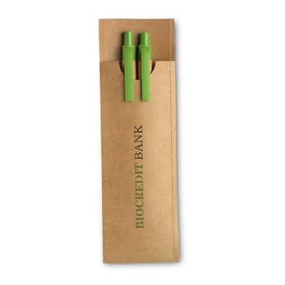 Set de bolígrafo y lápiz ecológicos personalizados