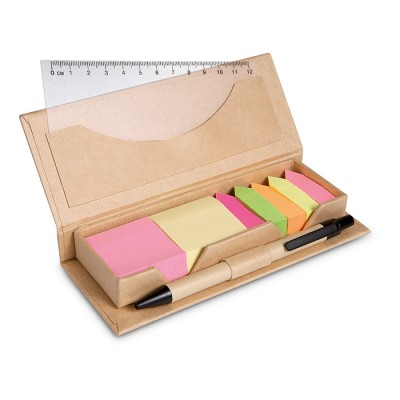 Set de oficina en caja cartón  como regalo de empresa