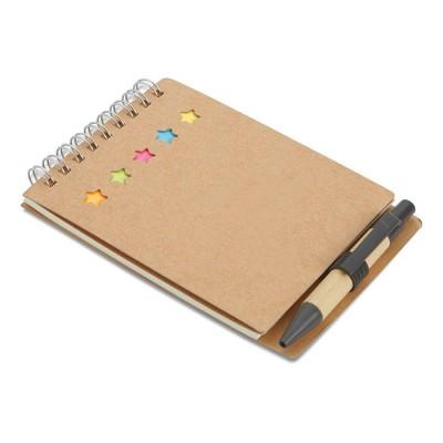 Libreta con bolígrafo y marcadores para publicidad y regalo