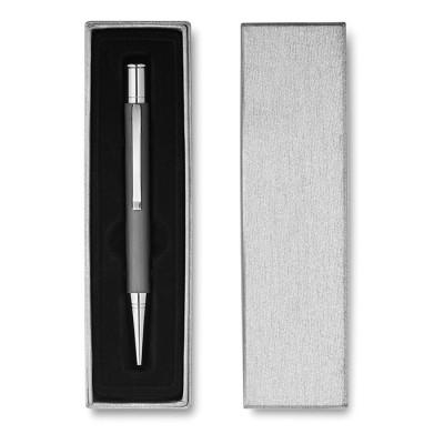 Bolígrafo personalizado de aluminio en estuche de cartón
