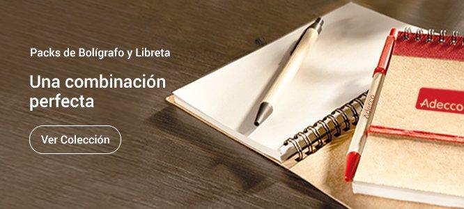 Pack bolígrafo personalizado y libreta