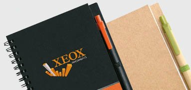 Libreta con bolígrafo personalizado para empresas